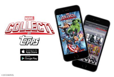 Topps announces the launch of MARVEL Collect! by Topps digital trading card app