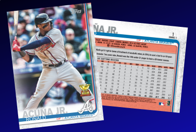 2019 Topps Baseball Card No. 1 is ...