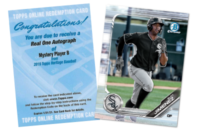2019 Topps Baseball 'Mystery Player B' redemption revealed