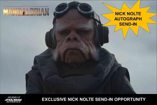 Star Wars Authentics offers Nick Nolte Autograph Send-In Opportunity