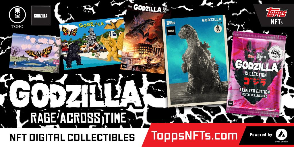 Topps and Godzilla Rage Across Time as NFT Collectibles