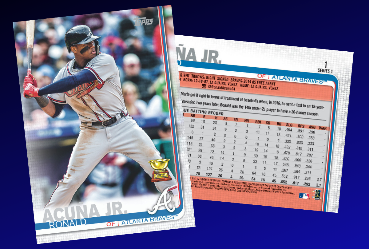 Topps News 2019 Topps Baseball Series 1 Card No 1 Vote