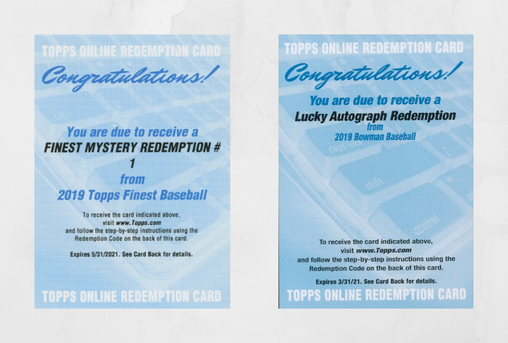 Bowman and Finest mystery redemptions revealed