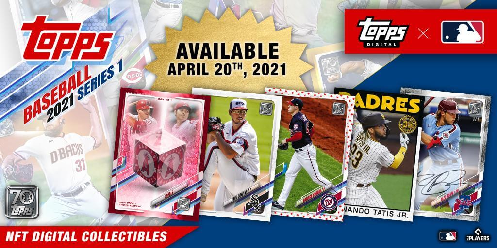Topps Debuts its First MLB Baseball Card NFT Collection With Topps Series 1 Baseball Launch