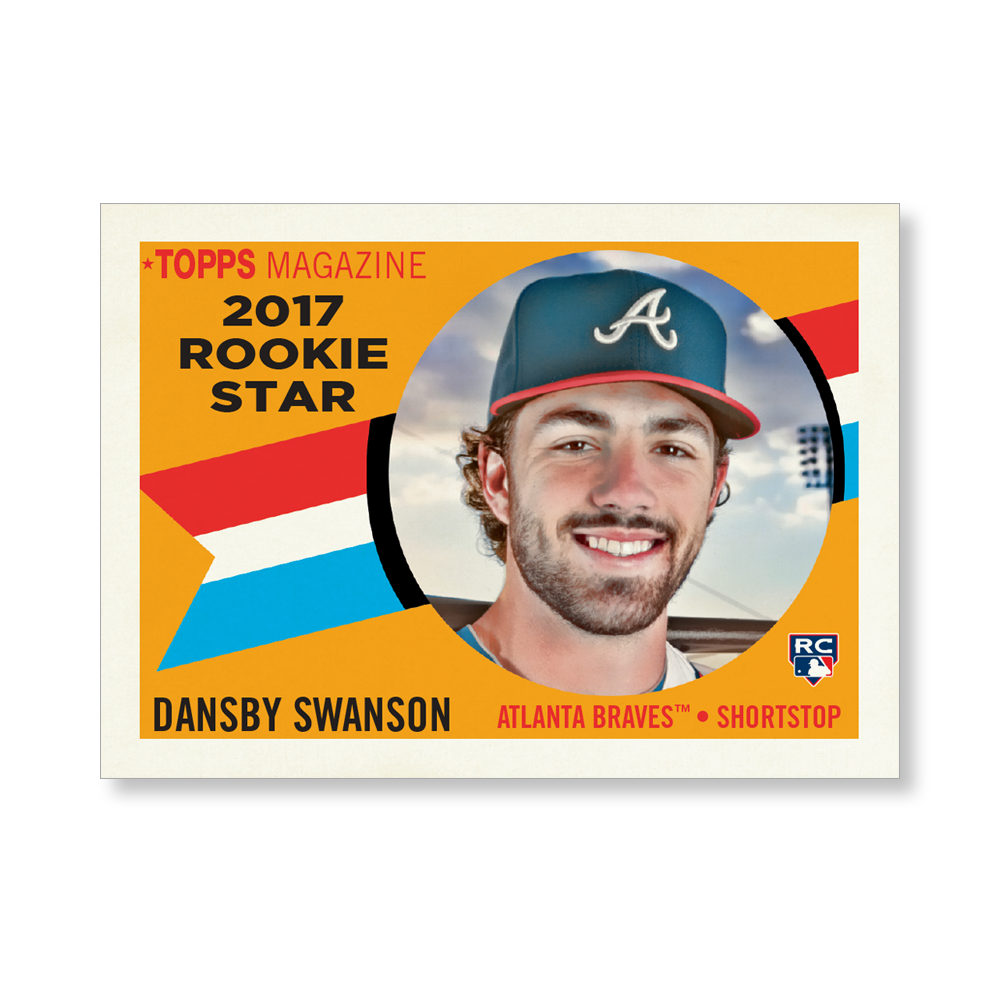 Dansby Swanson 2017 Topps Archives Baseball 1960 ROOKE STARS Poster – #d to 99