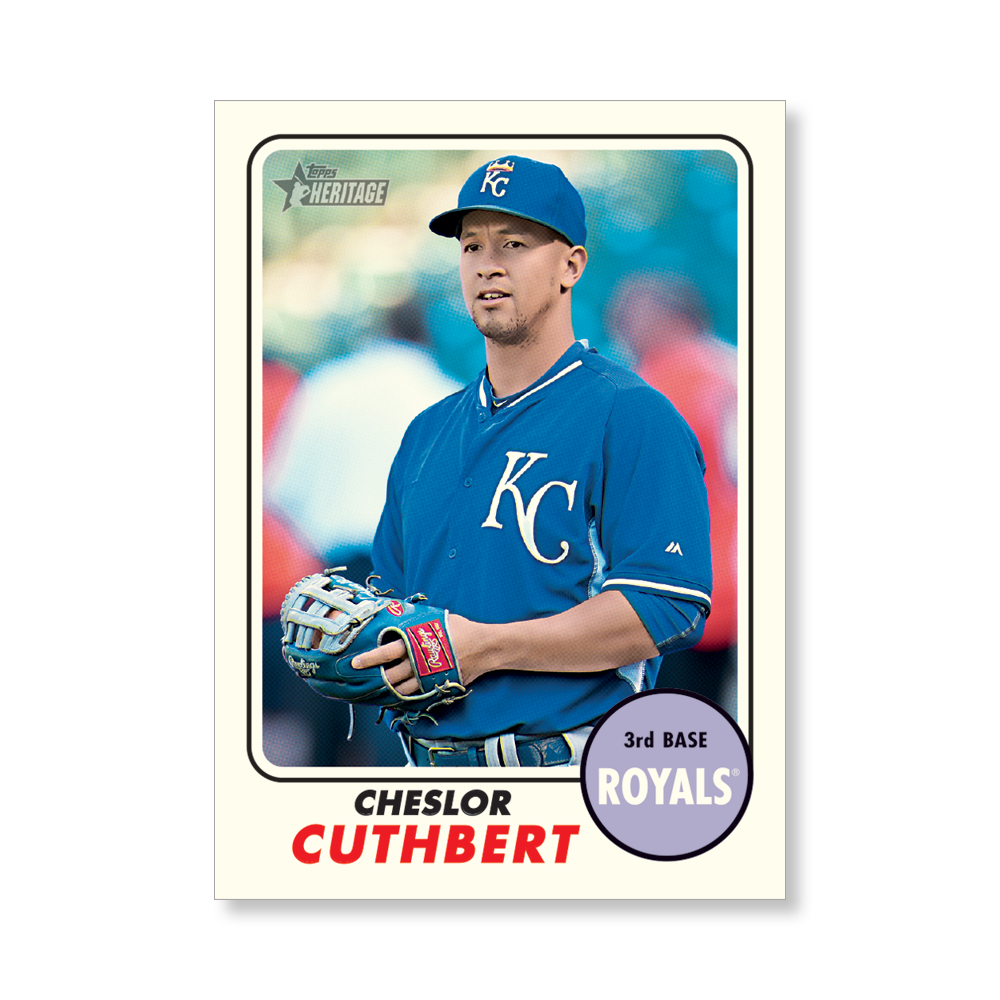 Cheslor Cuthbert 2017 Topps Heritage Baseball BASE Poster – # to 99