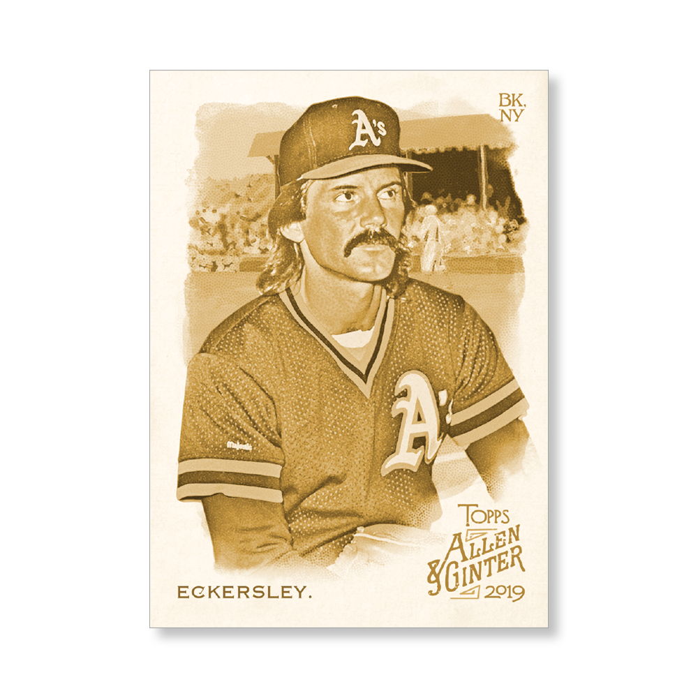 Dennis Eckersley 2019 Topps Allen & Ginter Oversized Base Cards Poster Gold Ed. # to 1