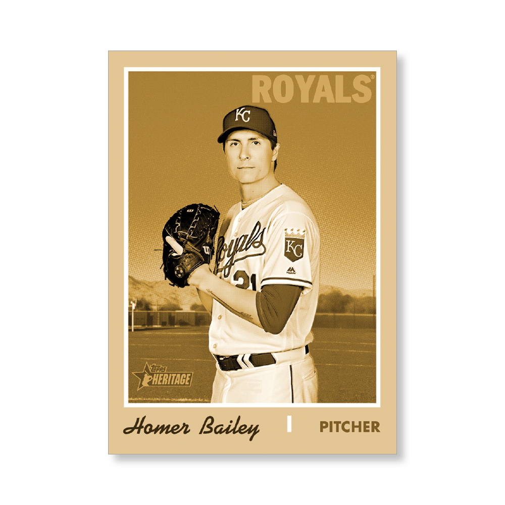 Homer Bailey 2019 Heritage High Number Base Cards Poster Gold Ed. # to 1