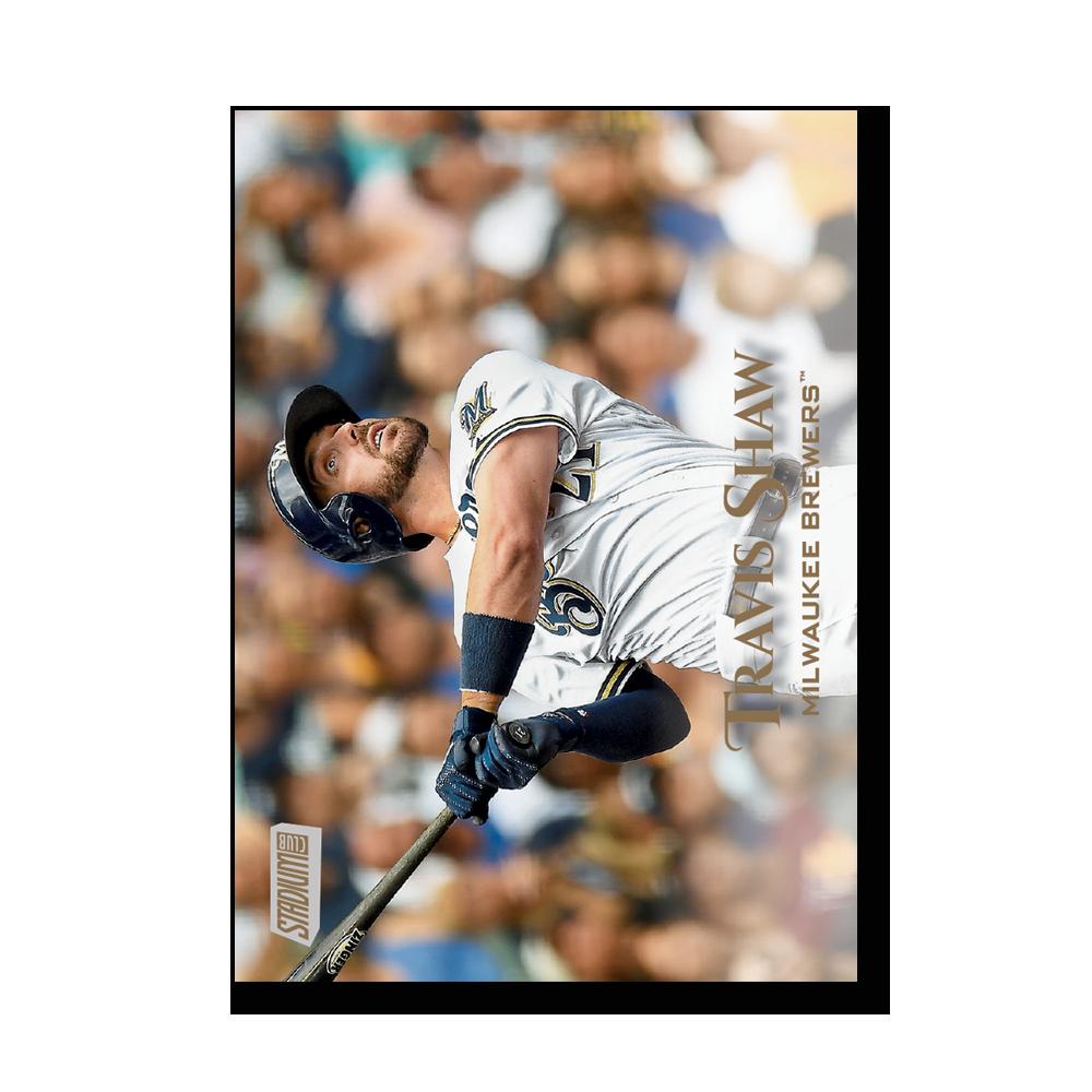 Travis Shaw 2019 Topps Stadium Club Baseball Base Cards Poster Gold Ed. # to 1