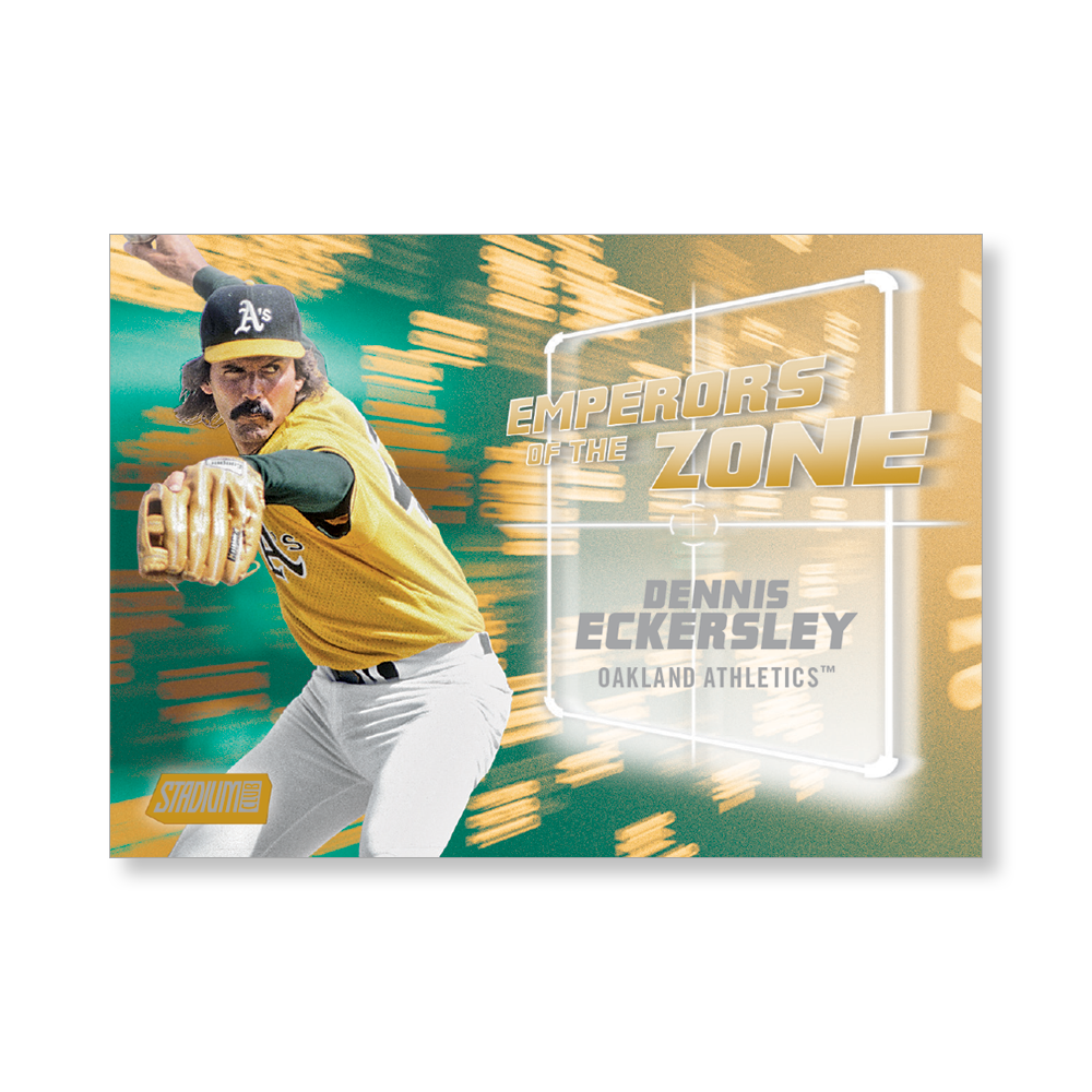 Dennis Eckersley 2019 Topps Stadium Club Baseball Emperors of the Zone Poster Gold Ed. # to 1