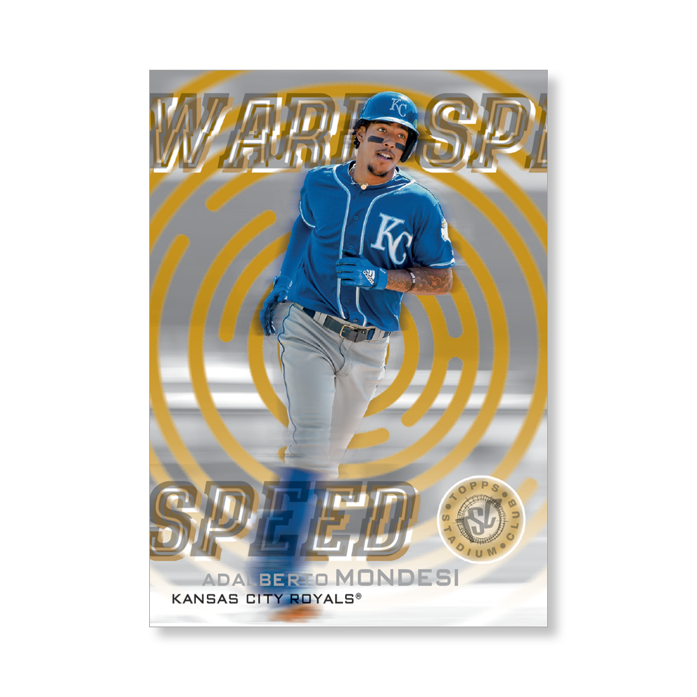 Adalberto Mondesi 2019 Topps Stadium Club Baseball Warp Speed Poster Gold Ed. # to 1