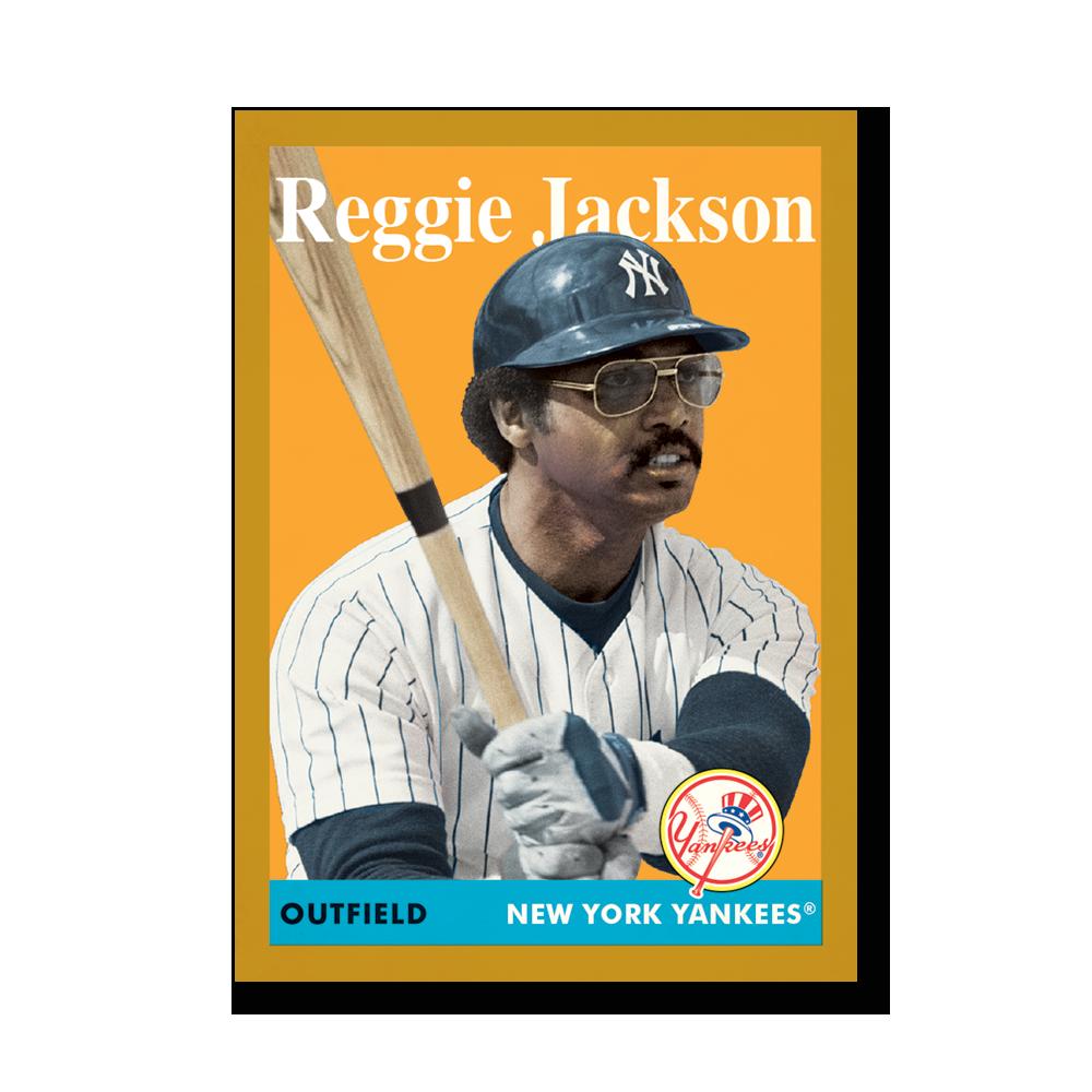 Reggie Jackson 2019 Archives Baseball 1958 Topps Poster Gold Ed. # to 1