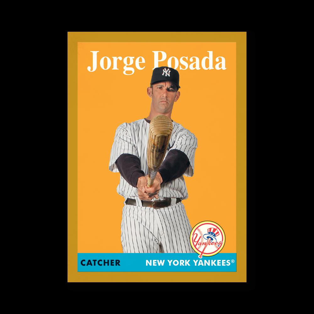 Jorge Posada 2019 Archives Baseball 1958 Topps Poster Gold Ed. # to 1