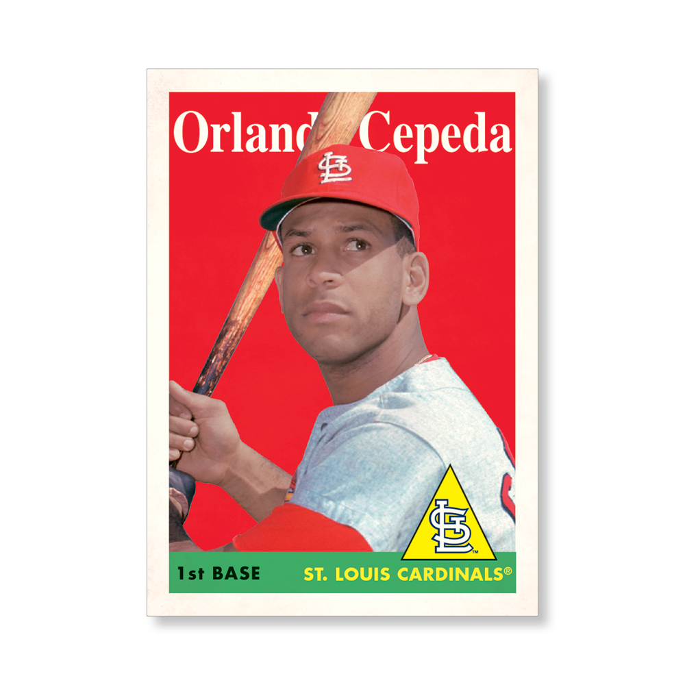 Orlando Cepeda 2019 Archives Baseball 1958 Topps Poster # to 99
