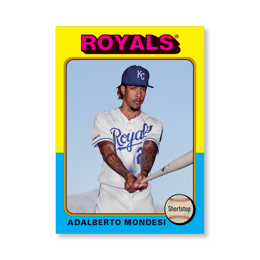 Adalberto Mondesi 2019 Archives Baseball 1975 Topps Poster Gold Ed. # to 1