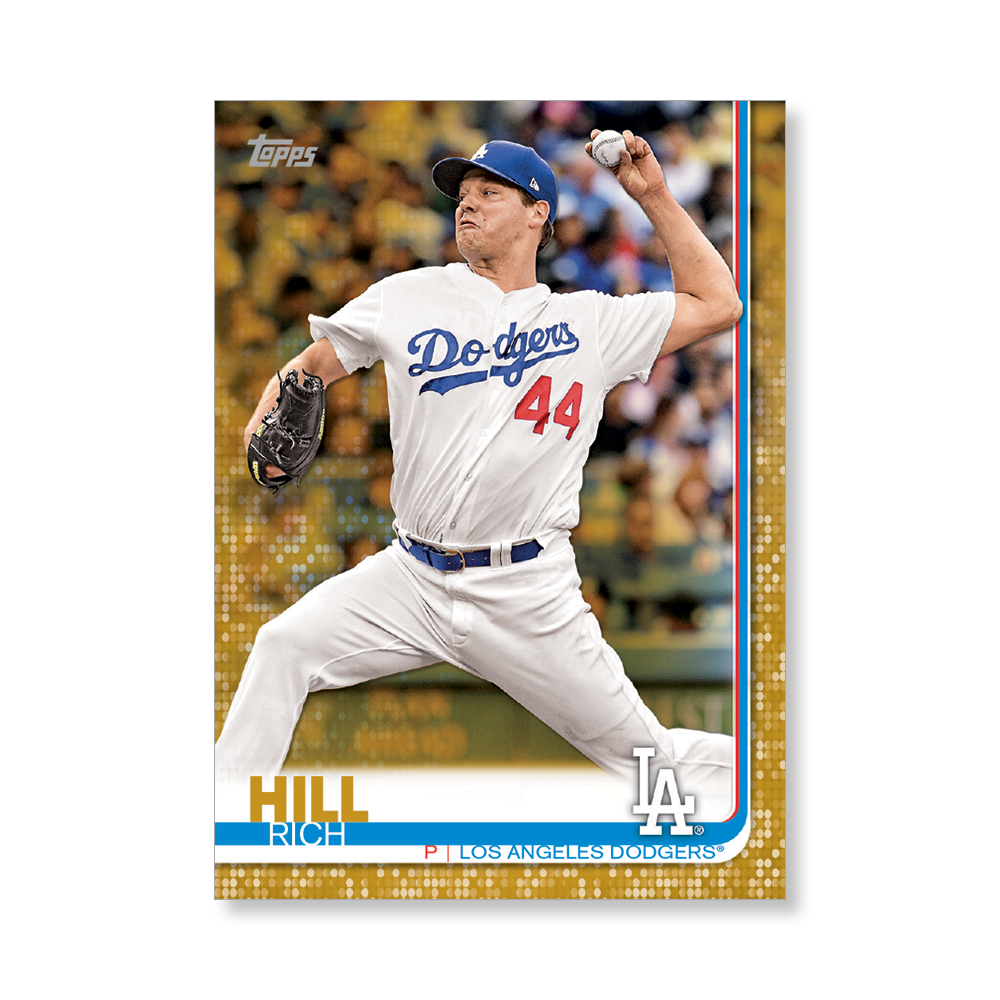 2019 Topps Series 1 Baseball Rich Hill Base Poster - #'d to 1