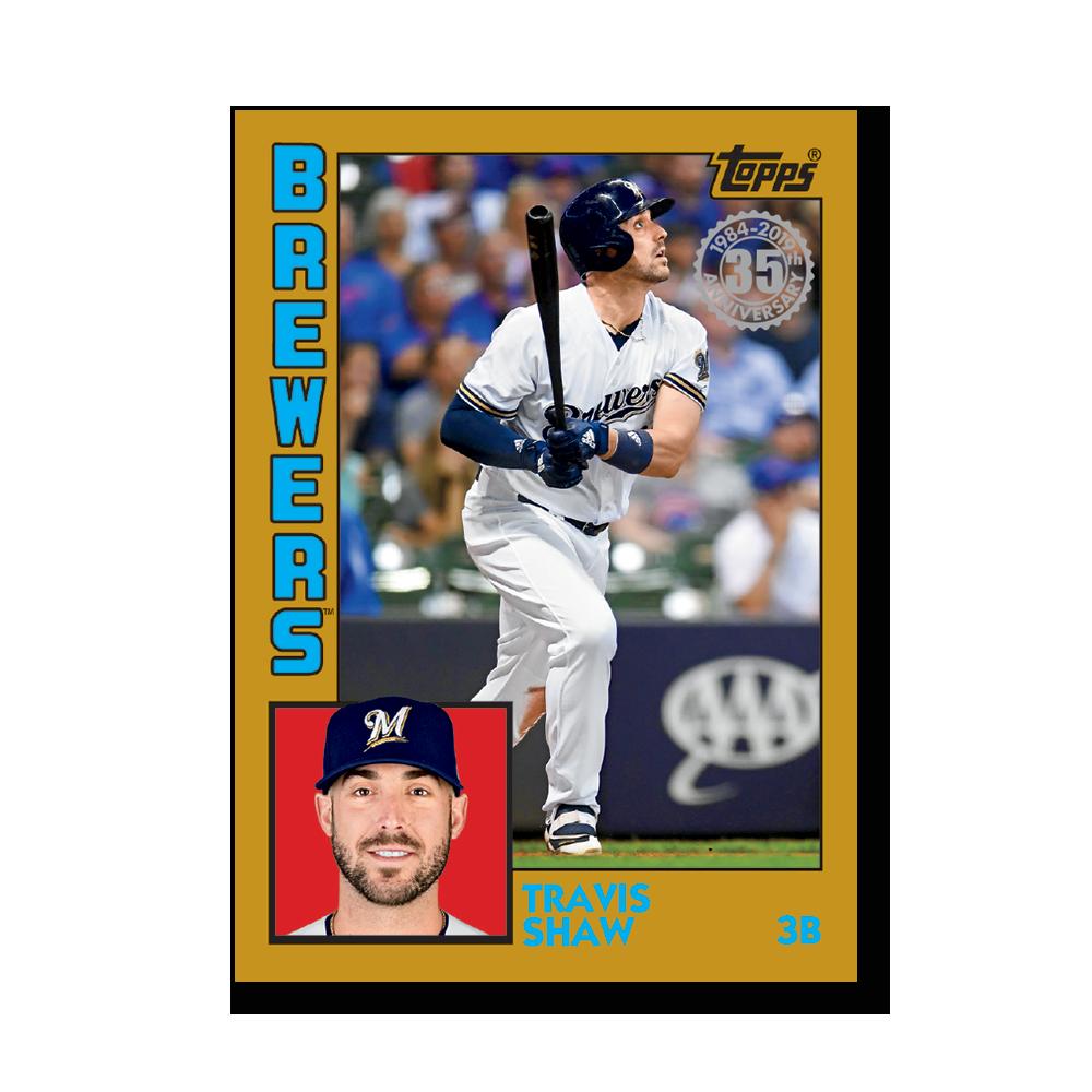 2019 Topps Series 1 Baseball Travis Shaw 1984 Topps Baseball Poster - #'d to 1