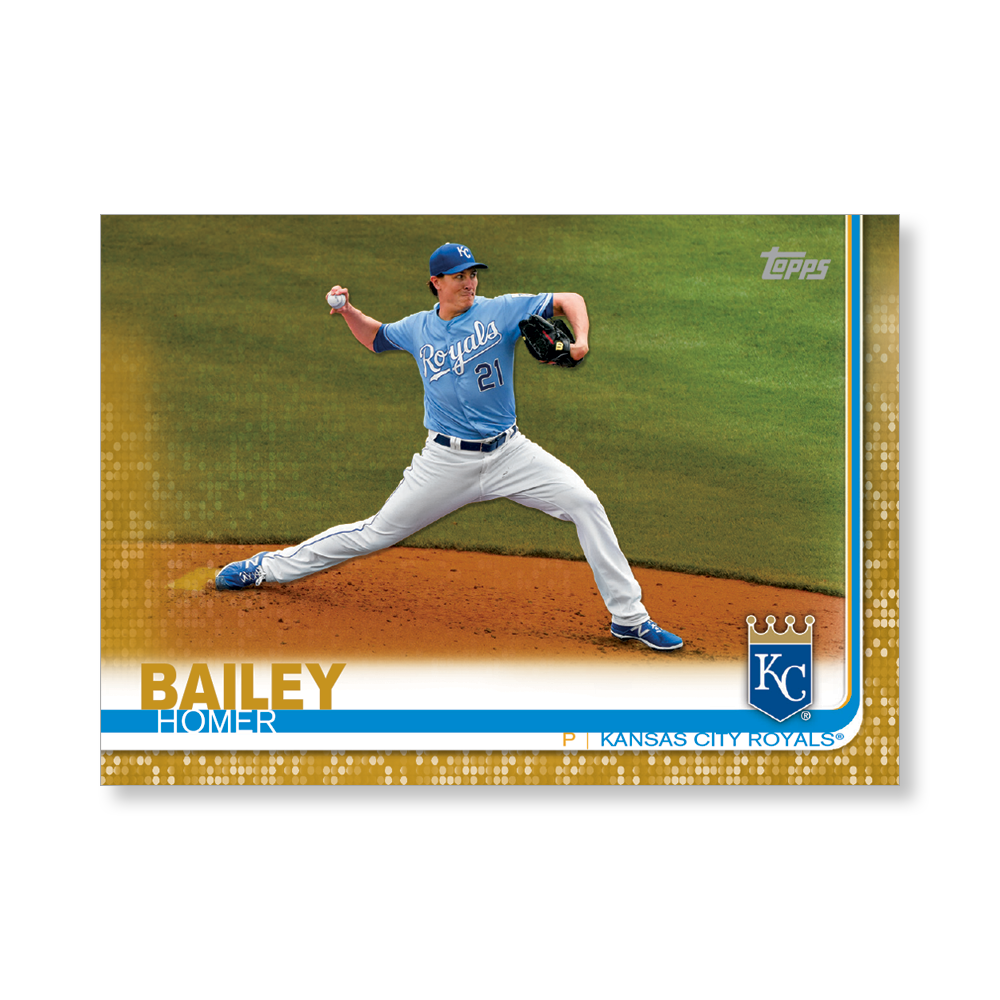 Homer Bailey 2019 Topps Baseball Update Series Traded Players Poster Gold Ed. # to 1