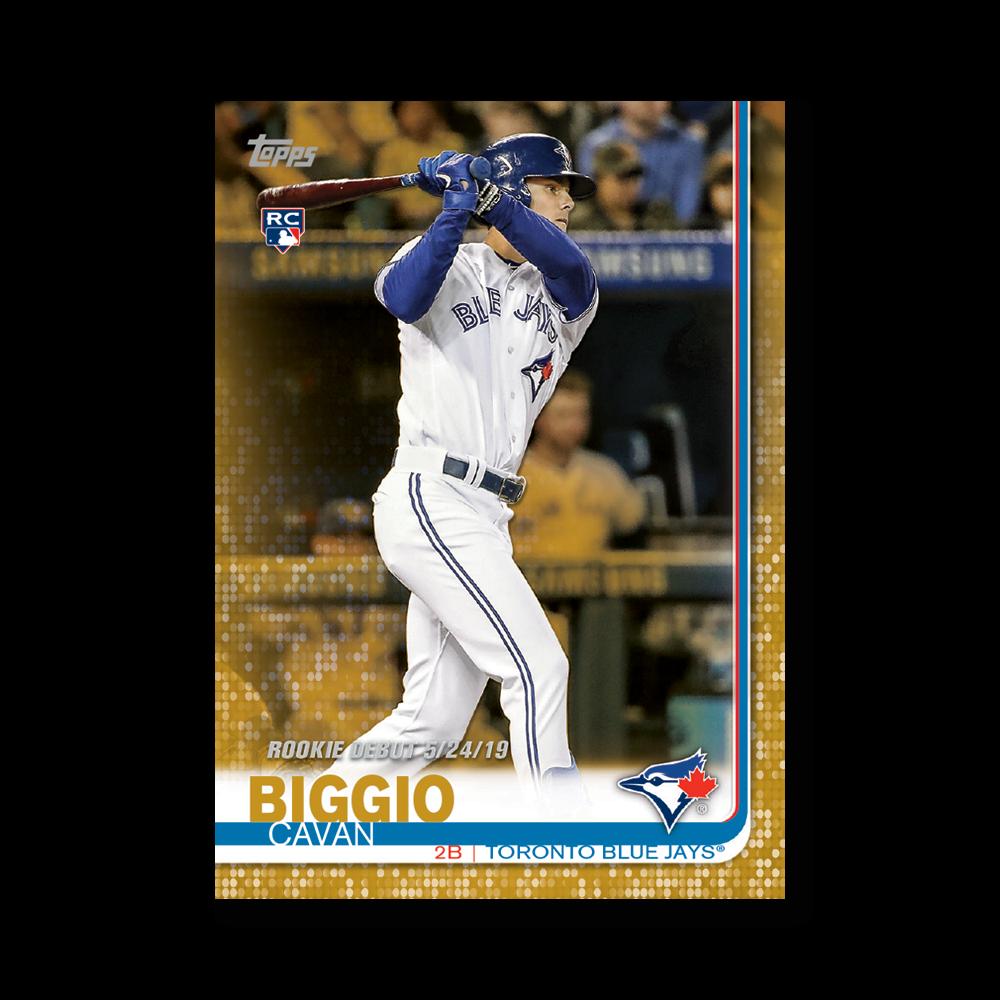 Cavan Biggio 2019 Topps Baseball Update Series Rookie Debut Poster Gold Ed. # to 1