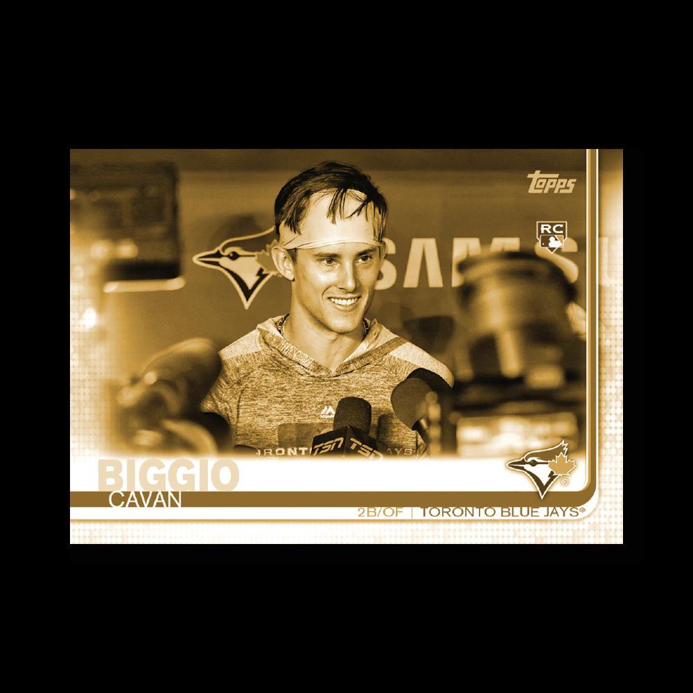 Cavan Biggio 2019 Topps Baseball Update Series Short Printed Base Card Photo Variation Poster Gold Ed. # to 1