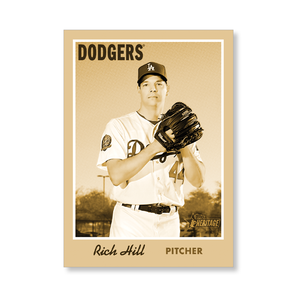 Rich Hill 2019 Heritage Baseball Base Poster Gold Ed. # to 1
