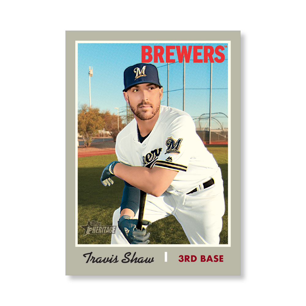 Travis Shaw 2019 Heritage Baseball Base Poster # to 99