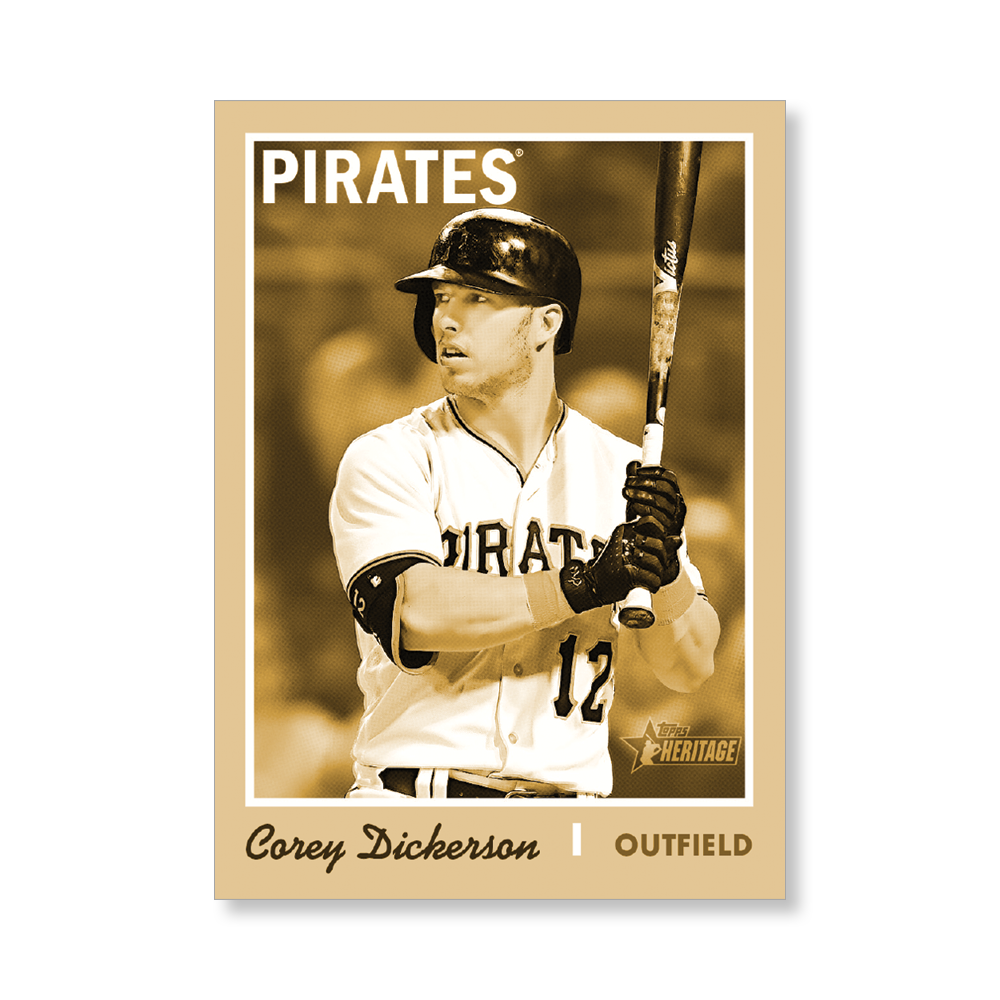 Corey Dickerson 2019 Heritage Baseball Base Poster Gold Ed. # to 1