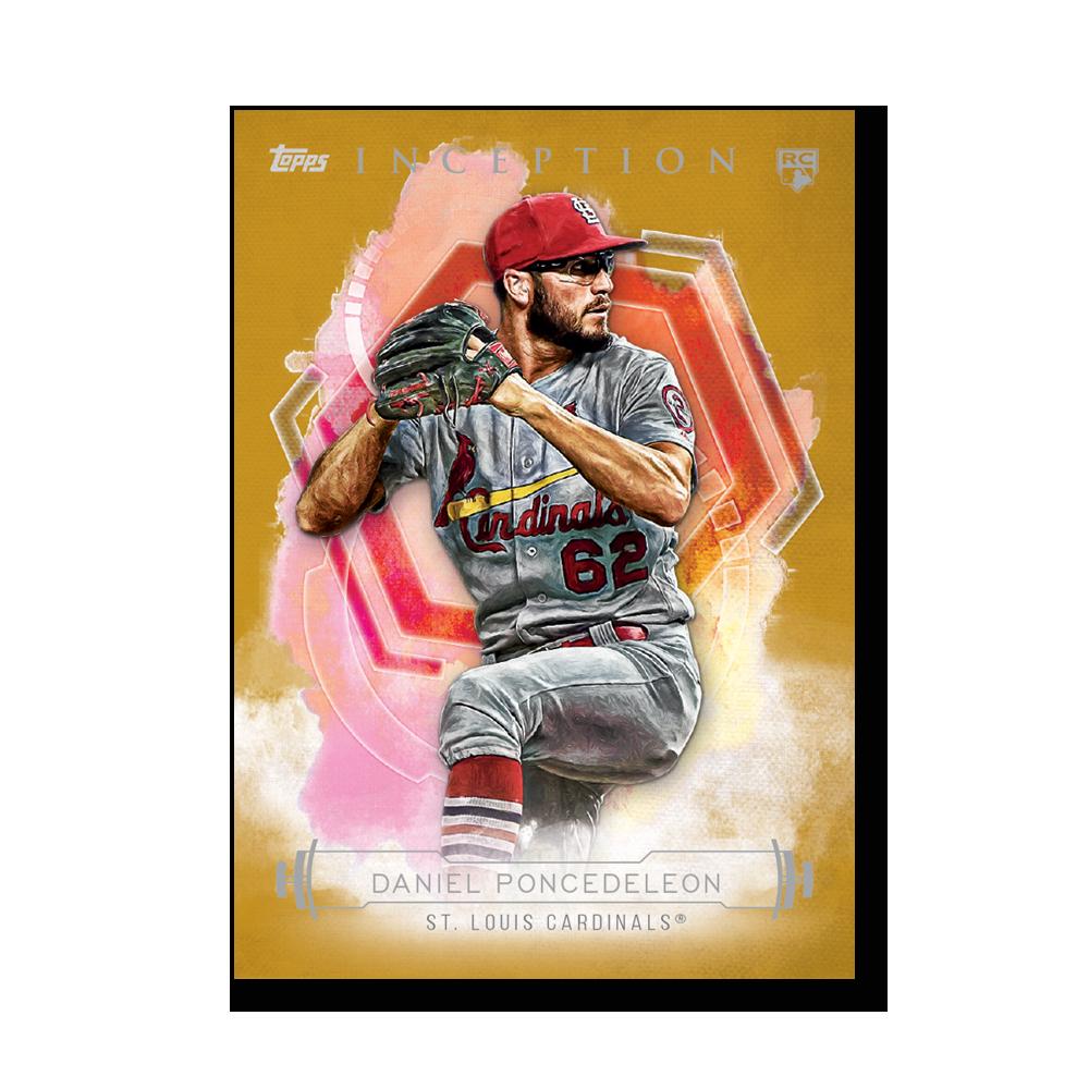 Daniel Poncedeleon 2019 Inception Baseball Poster Gold Ed. # to 1