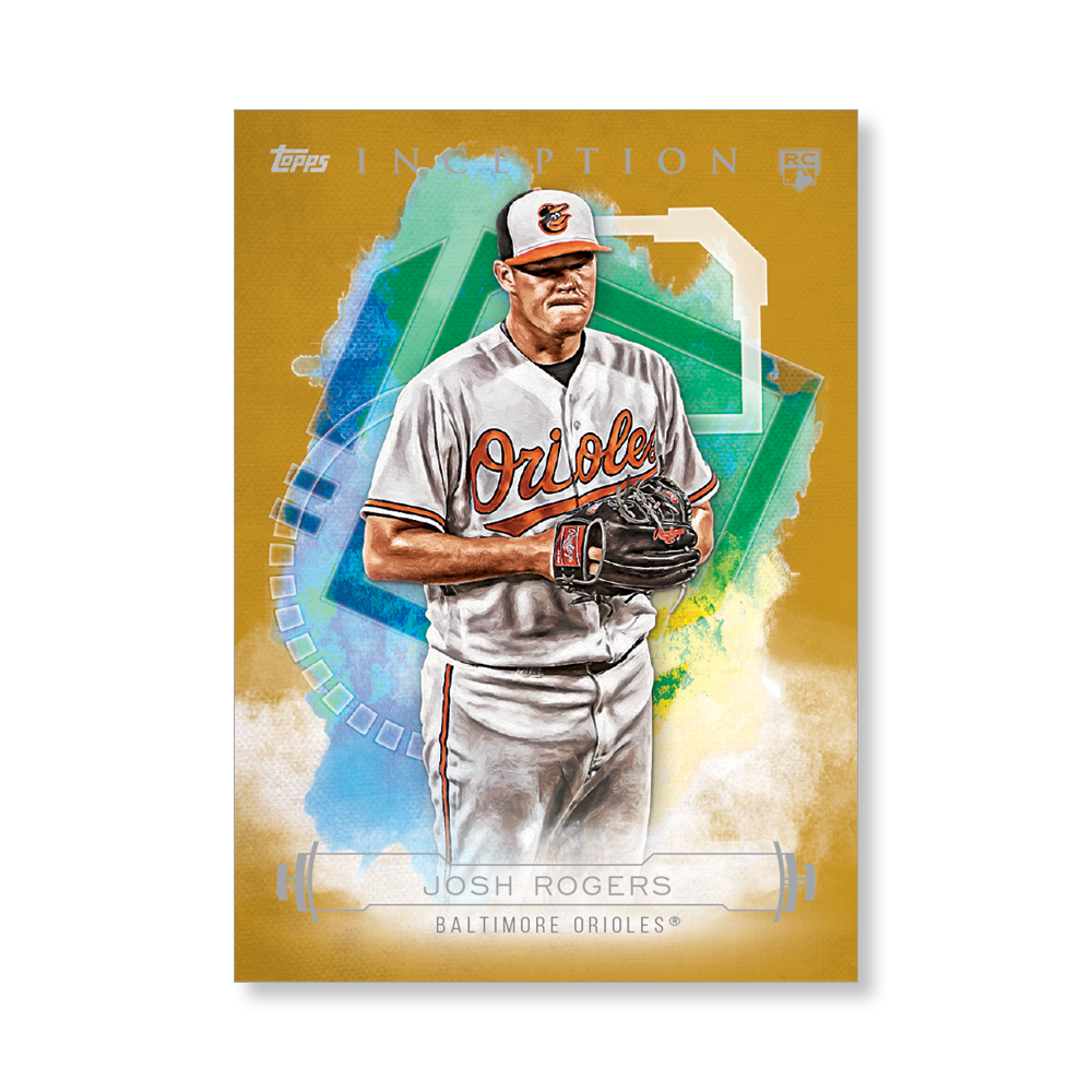Josh Rogers 2019 Inception Baseball Poster Gold Ed. # to 1