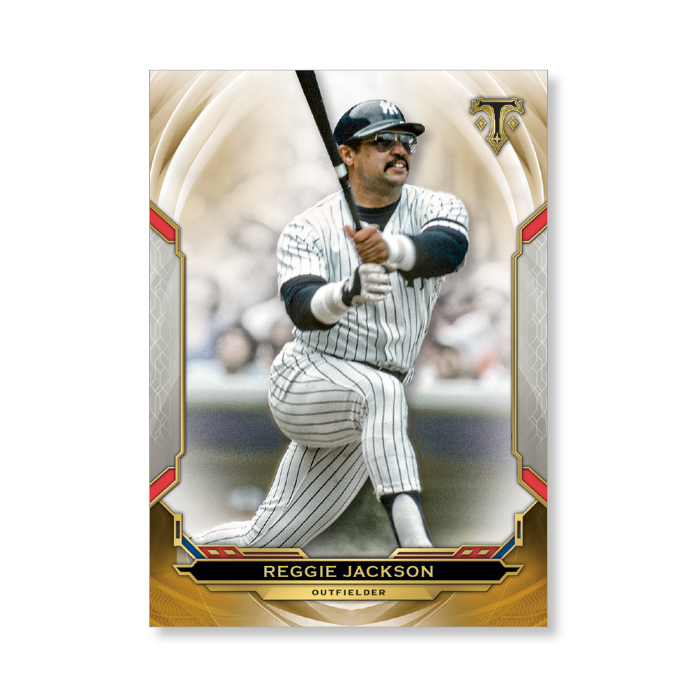 Reggie Jackson 2019 Triple Threads Base Card Poster Gold Ed. # to 1