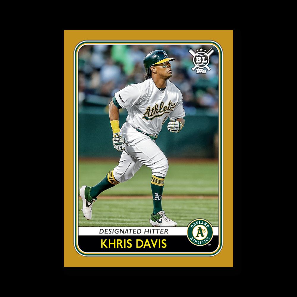 Khris Davis 2020 Big League Baseball VETERANS AND ROOKIES I Poster Gold Ed. # to 1