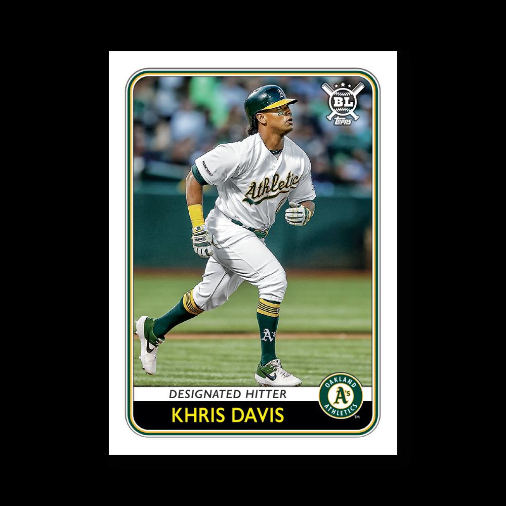 Khris Davis 2020 Big League Baseball VETERANS AND ROOKIES I Poster # to 99