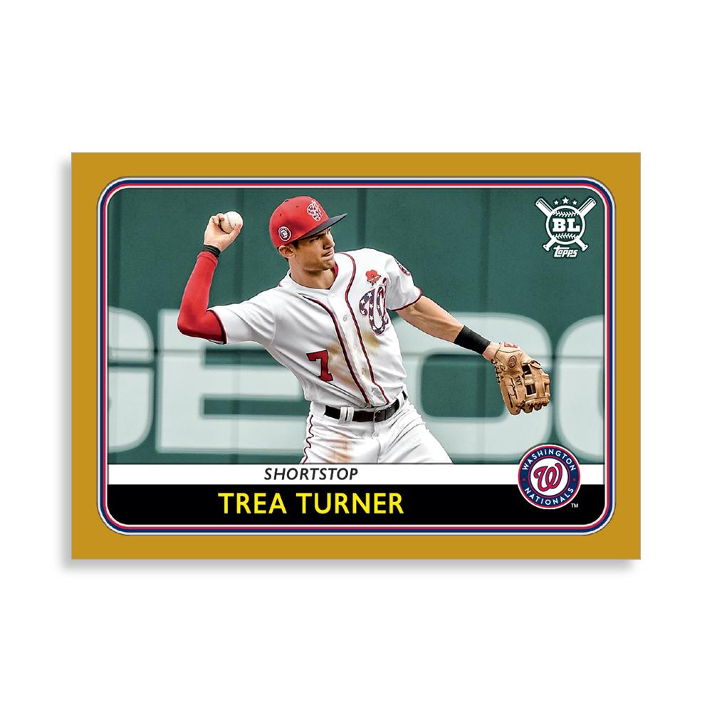 Trea Turner 2020 Big League Baseball VETERANS AND ROOKIES II Poster Gold Ed. # to 1