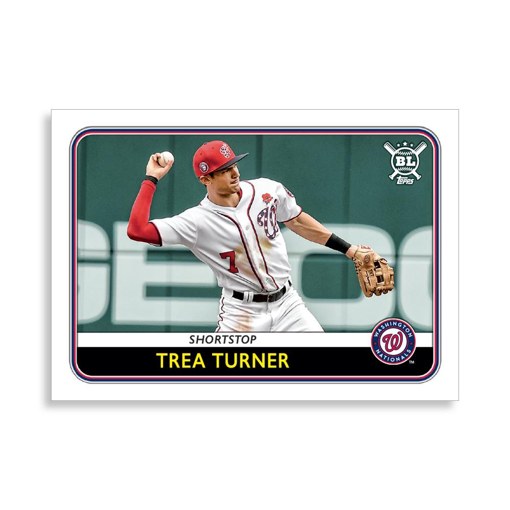 Trea Turner 2020 Big League Baseball VETERANS AND ROOKIES II Poster # to 99