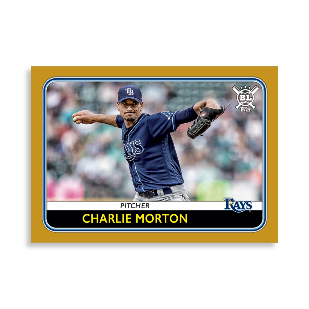 charlie morton 2020 big league baseball veterans and rookies ii poster gold ed to 1 topps