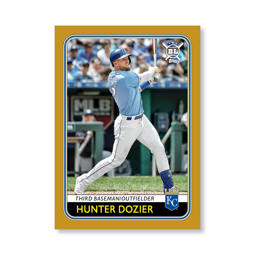 Hunter Dozier 2020 Big League Baseball VETERANS AND ROOKIES II Poster Gold Ed. # to 1