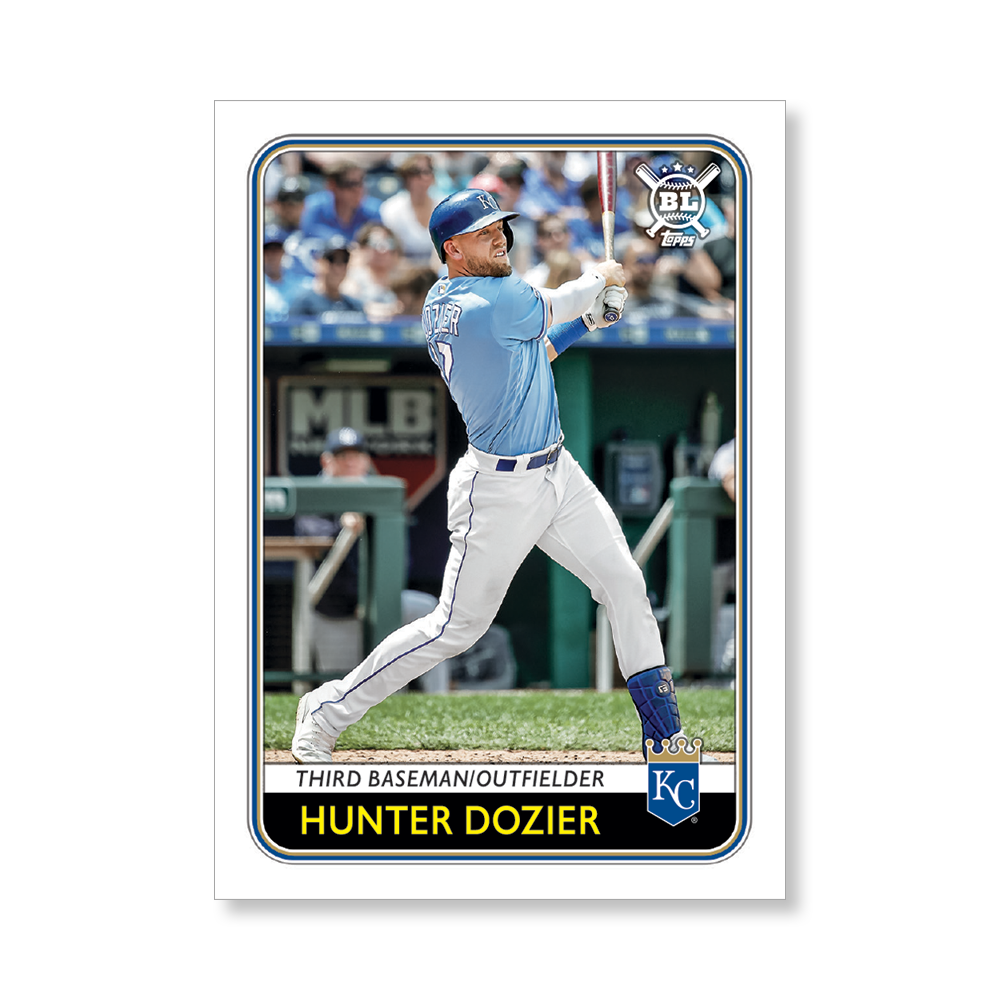 Hunter Dozier 2020 Big League Baseball VETERANS AND ROOKIES II Poster # to 99