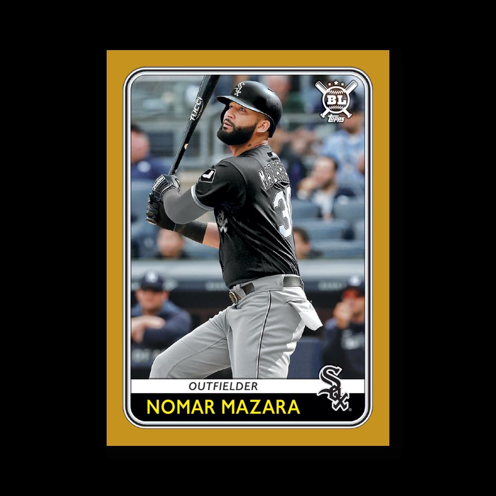 Nomar Mazara 2020 Big League Baseball VETERANS AND ROOKIES III Poster Gold Ed. # to 1