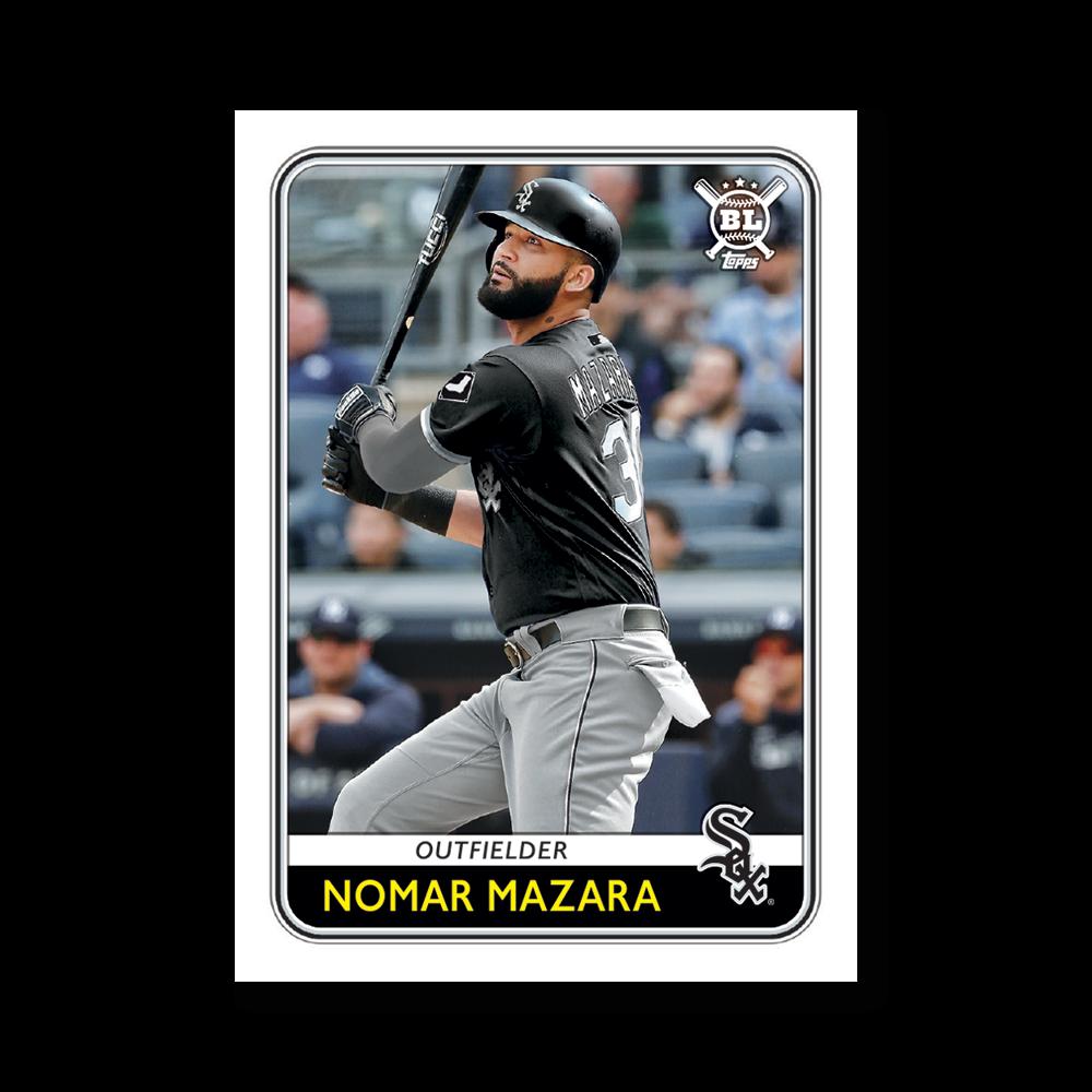 Nomar Mazara 2020 Big League Baseball VETERANS AND ROOKIES III Poster # to 99