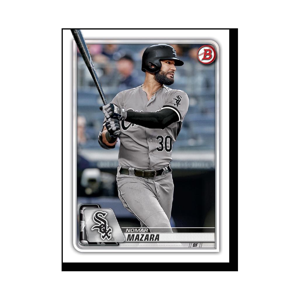 Nomar Mazara 2020 Bowman Baseball Base Cards Poster # to 99