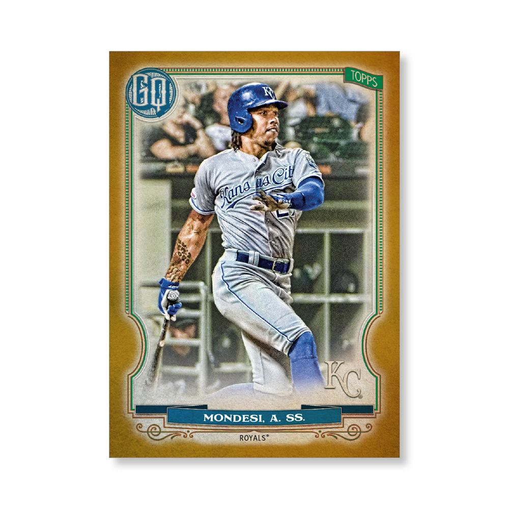 Adalberto Mondesi 2020 Gypsy Queen Base Card Poster Gold Ed. # to 1