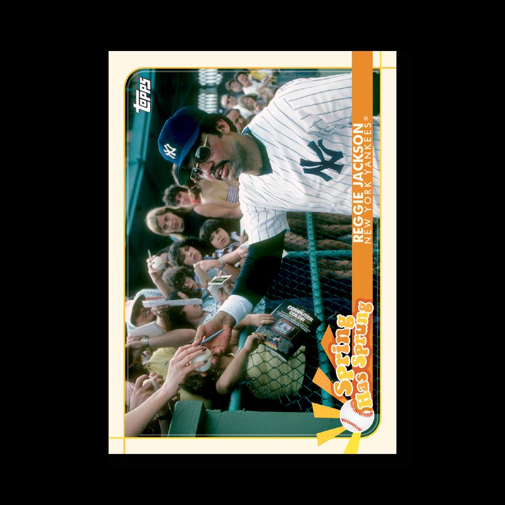 Reggie Jackson 2020 Opening Day Baseball Spring Has Sprung Poster # to 99