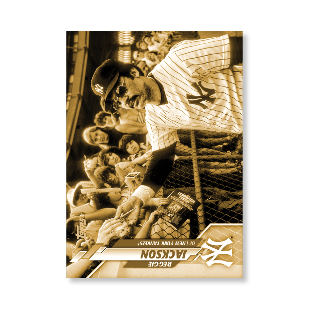 Reggie Jackson 2020 Topps Series 1 Base Card Short Prints Poster Gold Ed. # to 1
