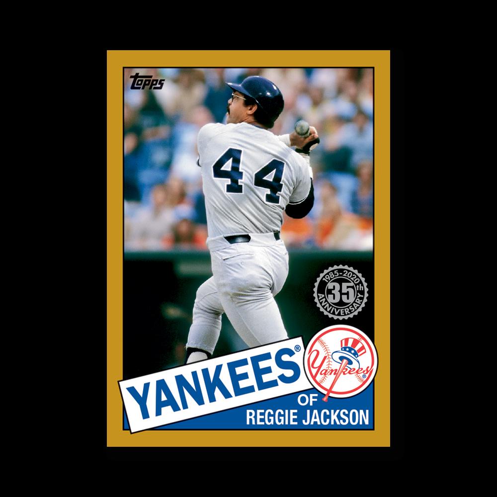 Reggie Jackson 2020 Topps Series 1 1985 Topps Baseball Poster Gold Ed. # to 1
