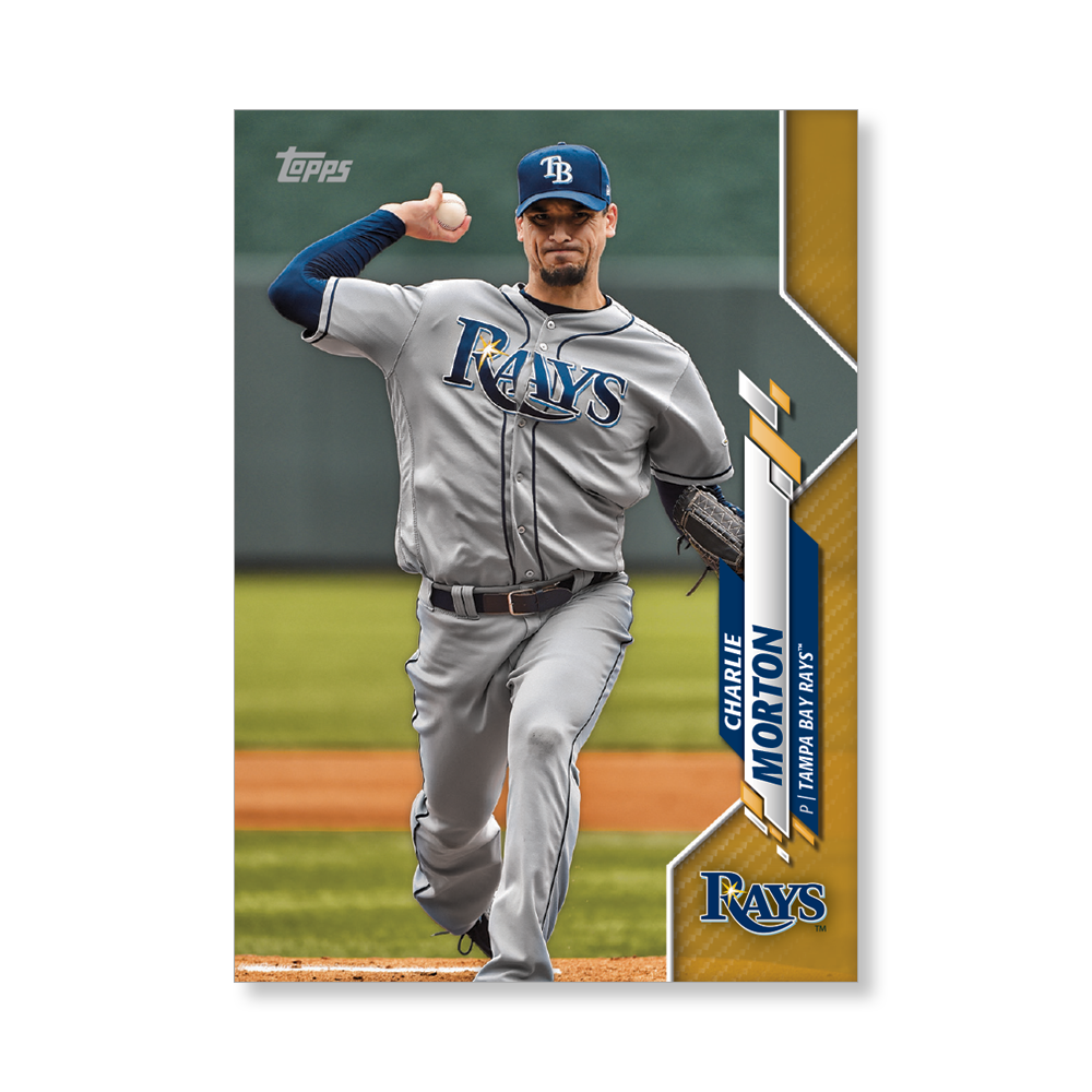 Charlie Morton 2020 Topps Baseball Series 2 Base Poster Gold Ed. # to 1