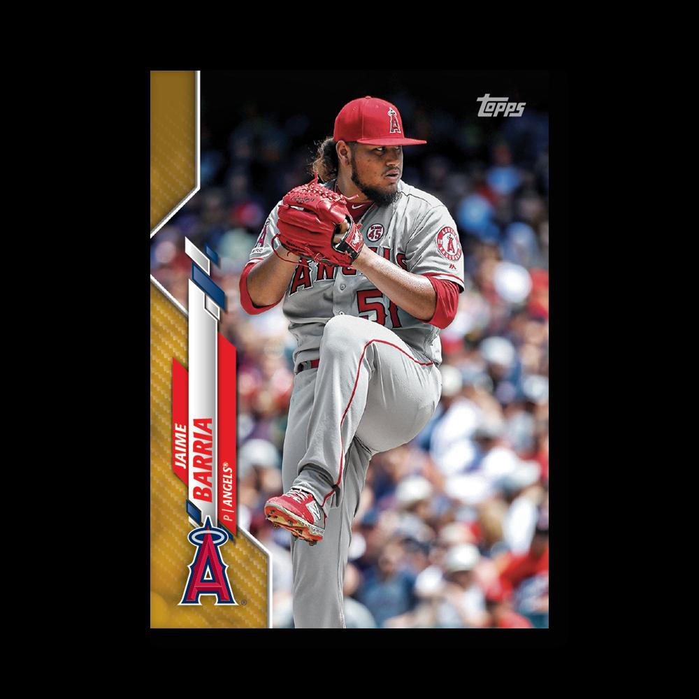 Jaime Barria 2020 Topps Baseball Series 2 Base Poster Gold Ed. # to 1