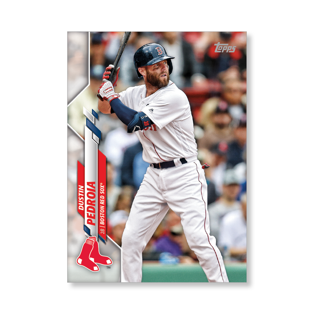 Dustin Pedroia 2020 Topps Baseball Series 2 Base Poster # to 99