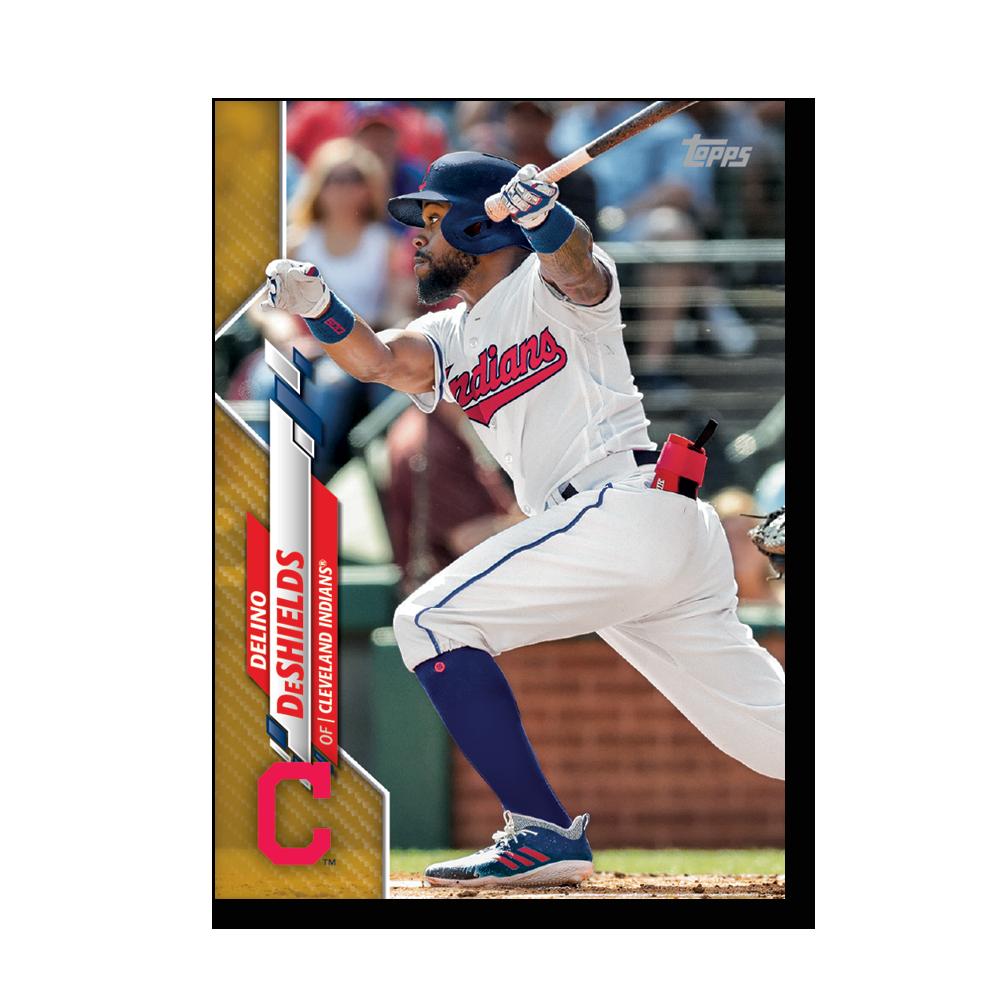 Delino DeShields 2020 Topps Baseball Series 2 Base Poster Gold Ed. # to 1