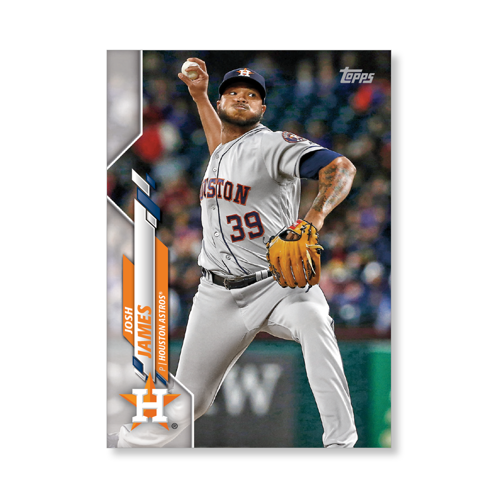 Josh James 2020 Topps Baseball Series 2 Base Poster # to 99