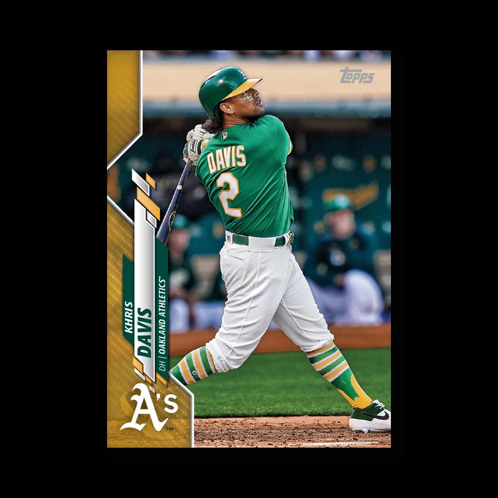 Khris Davis 2020 Topps Baseball Series 2 Base Poster Gold Ed. # to 1